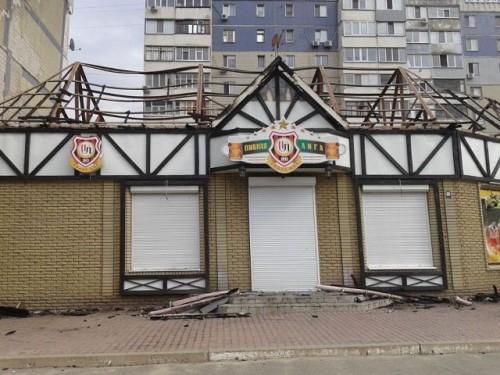 Торговый павильон в Ольховском квартале.