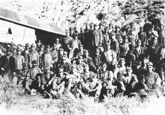 Группа украинских углекопов в Канаде.1904 г